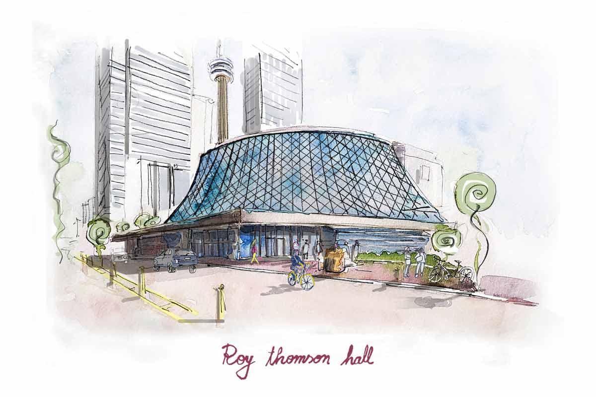 Roy Thomson Hall art by Frida Art Design
