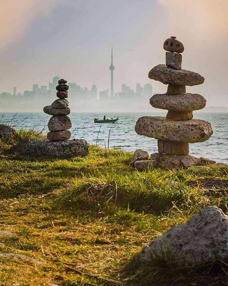 Inukshuk Toronto Humber Bay