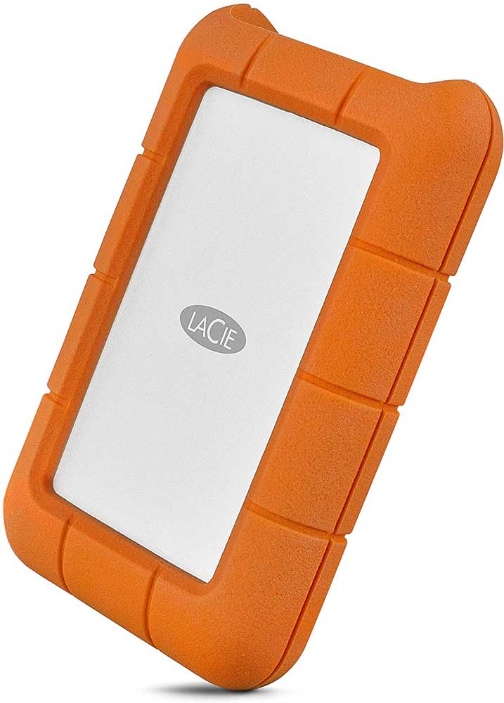 LaCie Rugged Thunderbolt USB-C 5TB External Hard Drive Portable HDD – USB 3.0 compatible